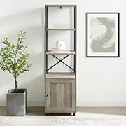 "W. Trends 64"" Urban Industrial Tower Bookshelf - Gray"