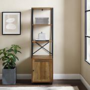 "W. Trends 64"" Urban Industrial Tower Bookshelf - Brown"