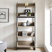 "W. Trends 60"" Modern Industrial Boxed Bookshelf - Gray"