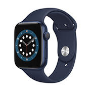 Apple Watch Series 6 GPS with Blue Aluminum Case, 44mm - Deep Navy Sport Band