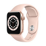 Apple Watch Series 6 GPS with Gold Aluminum Case, 40mm - Pink Sand Sport Band