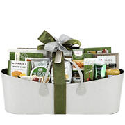 Silver Linen Savory Holiday Gift Basket