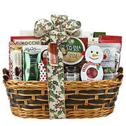 Holiday Willow Gift Basket