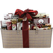 Cotton and Linen Holiday Carry-All Gift Basket