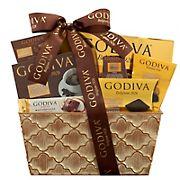 Gold Godiva Metal Planter Gift Basket