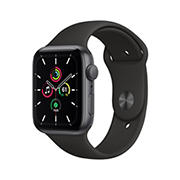 Apple Watch SE GPS with Space Gray Aluminum Case, 44mm - Black Sport Band