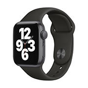 Apple Watch SE GPS with Space Gray Aluminum Case, 40mm - Black Sport Band