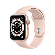 Apple Watch Series 6 GPS with Gold Aluminum Case, 44mm - Pink Sand Sport Band
