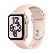 Apple Watch SE GPS with Gold Aluminum Case, 40mm - Pink Sand Sport Band