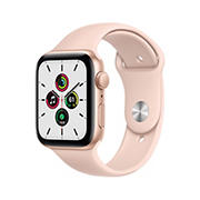 Apple Watch SE GPS with Gold Aluminum Case, 44mm - Pink Sand Sport Band