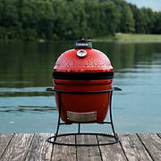 "Kamado Joe Jr. 13.5"" Charcoal Grill - Blaze Red"