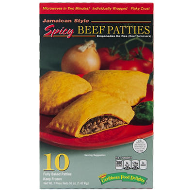 Caribbean Food Delights Jamaican Style Spicy Beef Patties, 10 ct.