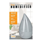 Crane 1-Gal. Drop Ultrasonic Cool Mist Humidifier - Gray