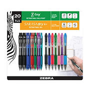 Zebra Mixed Writing Set - Z-Grip Ballpoint and Sarasa Dry X20 Gel Retractable Pens, 20 pk. - Assorted Colors