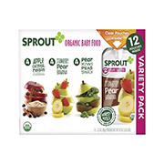 Sprout Baby Food Variety Pack, 12 ct.