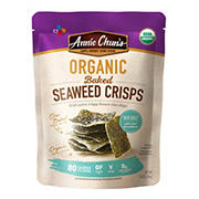 Annie Chuns Organic Baked Seaweed Crisps with Sea Salt, 5.08 oz.