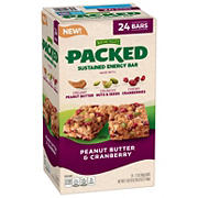Nature Valley Packed Peanut Butter Cranberry Sustained Energy Bars, 24 ct.