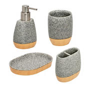 Honey-Can-Do 4-Pc. Bath Accessory Set - Speckled