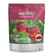Ultra Organics Earthly Origins Sliced Strawberries, 4 lbs.