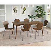 Colman Rectangular Dining Table - Walnut Finish