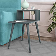 Cahill End Table with Shelf - Gray