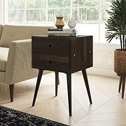 Cahill End Table with Drawers - Dark Espresso
