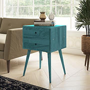 Cahill End Table with Drawers - Blue