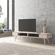 Cahill TV Stand with Shelves & Drawers - White Wash