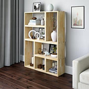Cahill Modern 7 Block Wood Shelving Set - Natural