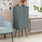 Cahill Vertical Wood Chest with Door - Gray