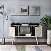 Cahill Entertainment Cabinet with Doors - White Wash