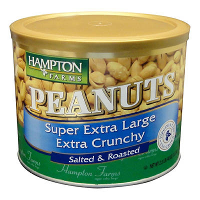 Hampton Farms Super Extra Large Extra Crunchy Salted Roasted Peanuts,