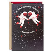 Hallmark Valentine's Day Card for Significant Other - Favorite Place in the Universe, Astronauts