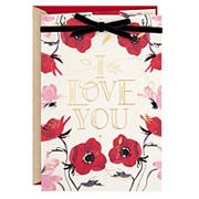Hallmark Valentine's Day Card for Significant Other - I Love You, Flowers