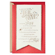 Hallmark Anniversary Card, Love Card for Significant Other - Real Love