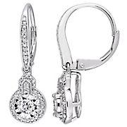 .2 ct. t.w. Diamond Leverback Earrings in Sterling Silver