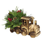 Wooden Train Centerpiece