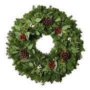 "24"" Eucalyptus and Berry Wreath"
