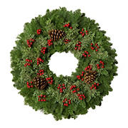 "24""Christmas Berry Wreath"