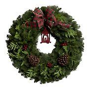 "24"" Vintage Lantern Wreath"