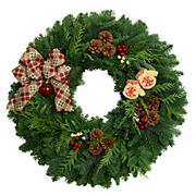"24"" Cozy Christmas Wreath"