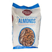 Wellsley Farms Dry Roasted & Unsalted Almonds, 2.5 lbs.