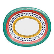 "Artstyle 'Circle Soiree' Paper Plates 10""x12"" Oval Platter, 35 ct."