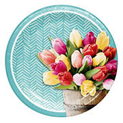 "Artstyle Pretty Little Tulips 6.875"" Paper Dessert Plates, 75 ct."