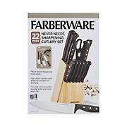 Farberware 22-Pc. Never Needs Sharpening Cutlery Set