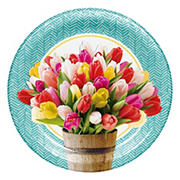"Artstyle Pretty Little Tulips 10.125"" Paper Dinner Plates, 40 ct."