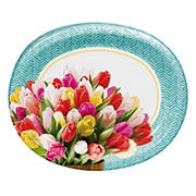 "Artstyle 'Pretty Little Tulips' 10""x 12"" Oval Platter, 35 ct."