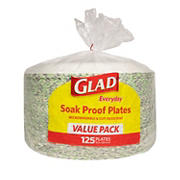 """Glad 10"""" Round Paper Plates, 125 ct."""