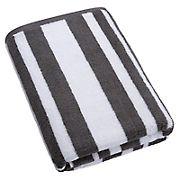 Berkley Jensen Cotton Bath Towel - Medium Gray Stripe