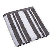 Berkley Jensen Cotton Hand Towel - Medium Gray Stripe